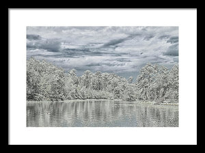 The Coming Of A Winter Storm - Framed Print