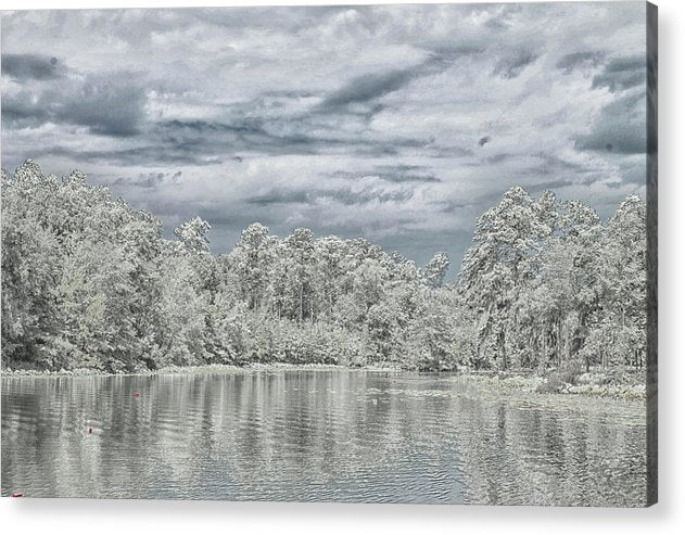 The Coming Of A Winter Storm - Acrylic Print