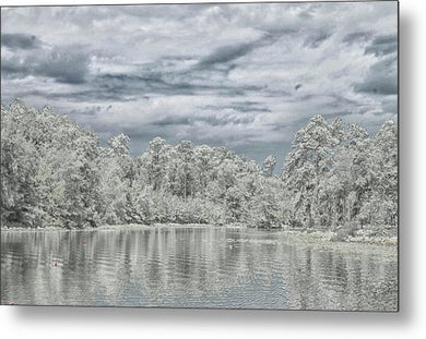 The Coming Of A Winter Storm - Metal Print
