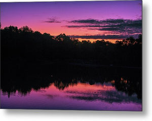 The Early Morning Sunrise Reflection - Metal Print