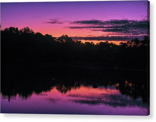 The Early Morning Sunrise Reflection - Acrylic Print