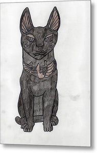 The Eqyptian Cat - Metal Print