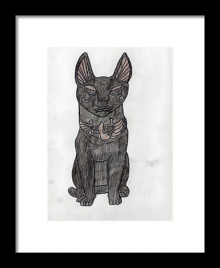 The Eqyptian Cat - Framed Print