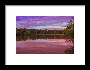 The Morning Pink Sunrise - Framed Print