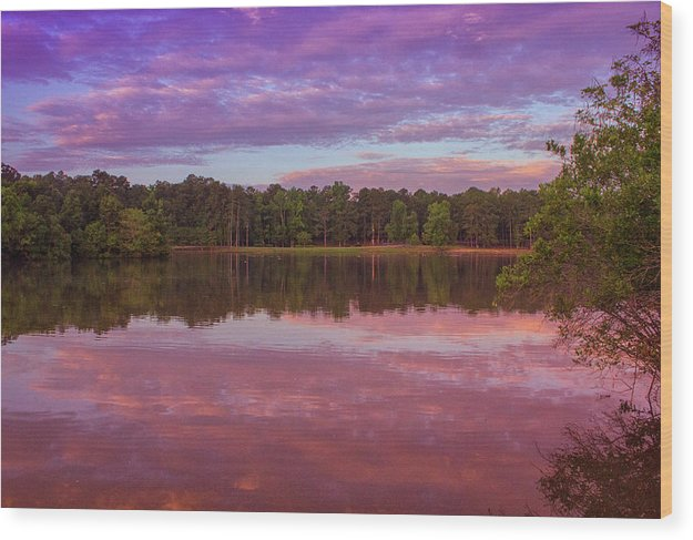 The Morning Pink Sunrise - Wood Print