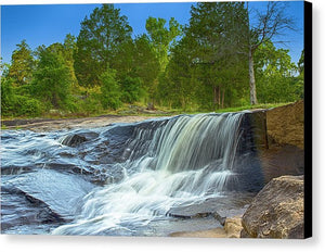 The Waterfall In Hdr - Canvas Print
