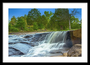 The Waterfall In Hdr - Framed Print