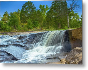 The Waterfall In Hdr - Metal Print