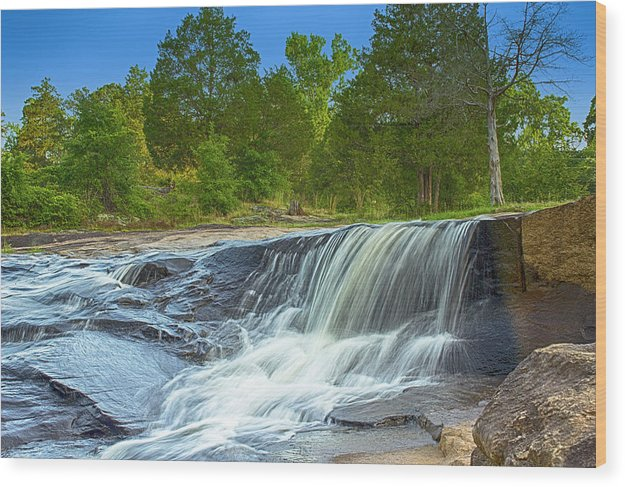 The Waterfall In Hdr - Wood Print