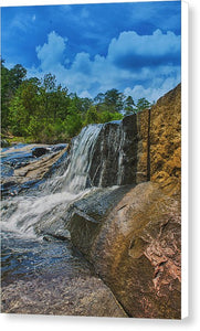 The Waterfall Wall In Hdr - Canvas Print