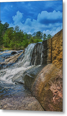 The Waterfall Wall In Hdr - Metal Print