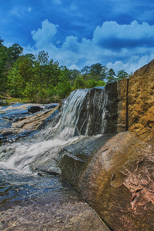 The Waterfall Wall In Hdr - Art Print