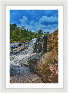 The Waterfall Wall In Hdr - Framed Print