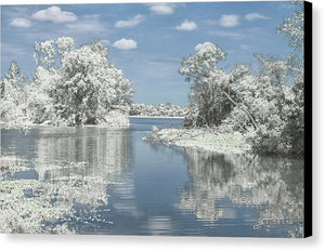 The Winterscape Reflection - Canvas Print