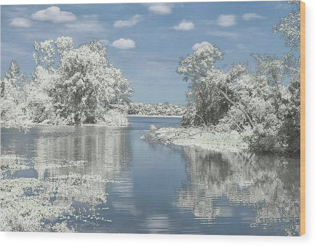 The Winterscape Reflection - Wood Print