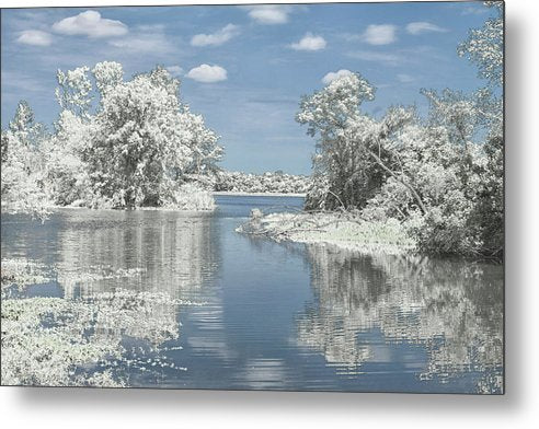 The Winterscape Reflection - Metal Print