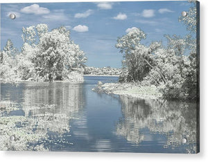The Winterscape Reflection - Acrylic Print