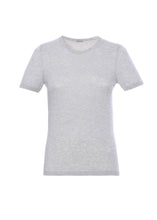 Load image into Gallery viewer, Short sleeves crewneck in cashmere-silk