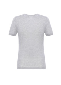 Short sleeves crewneck in cashmere-silk