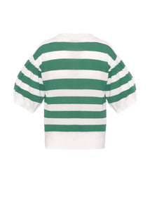 Striped short sleeves crew neck