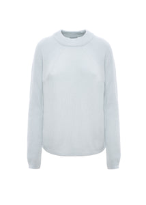 Oversize english ribbed crewneck