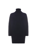 Load image into Gallery viewer, Navy Blue over turtleneck sweater