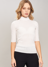 Load image into Gallery viewer, Ribbed turtleneck in pure cashmere