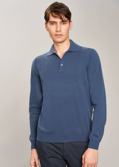French polo in pure cashmere