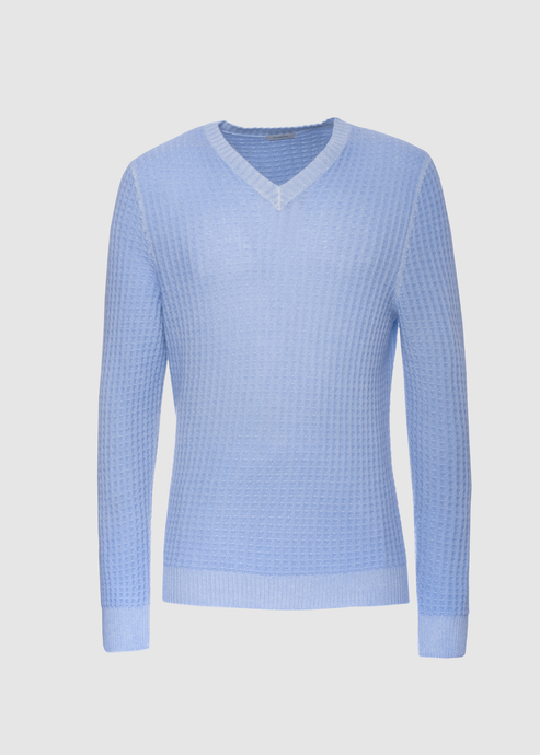 Waffel V neck sweater