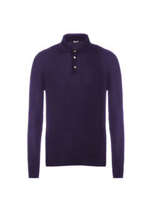 Cashmere french collar polo