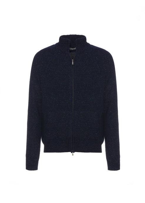Cashmere tweed bomber
