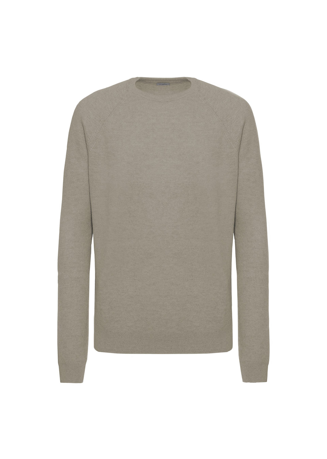 Seal half english rib crewneck sweater