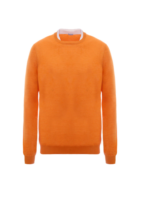 Crewneck in cashmere-silk