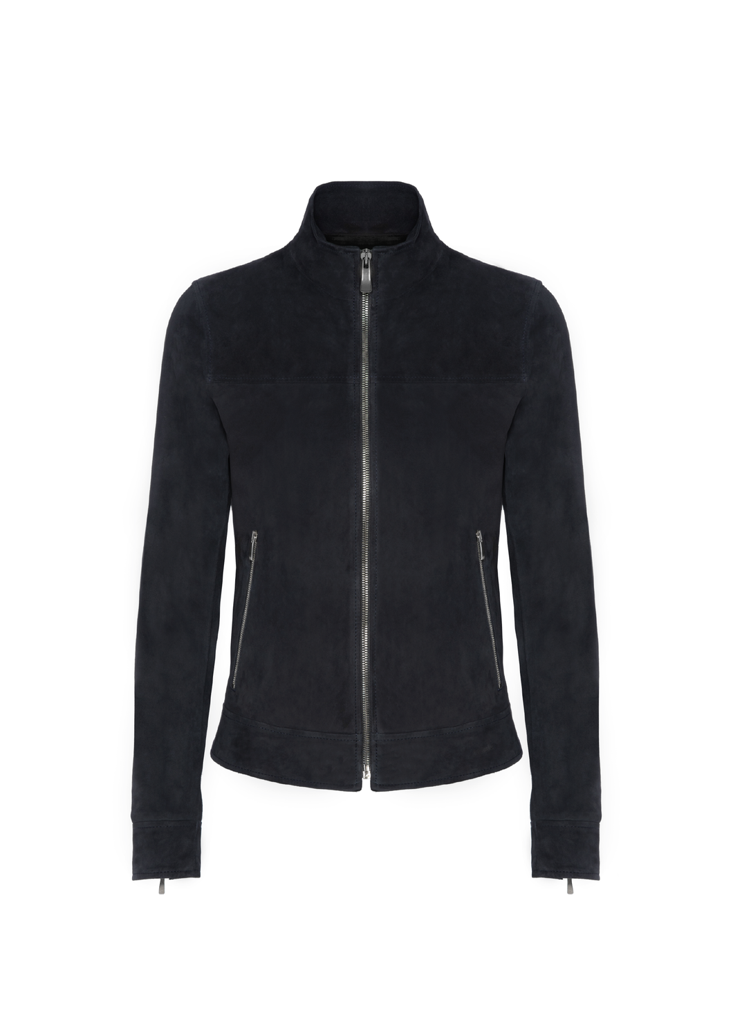 Suede leather biker jacket