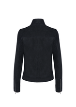 Load image into Gallery viewer, Suede leather biker jacket