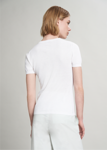 Short sleeves crewneck in Makò cotton