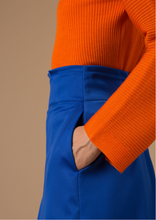Load image into Gallery viewer, Wool skirt with silk details