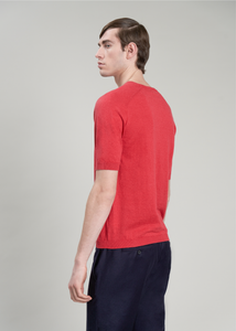 Short sleeves crewneck in linen - cotton