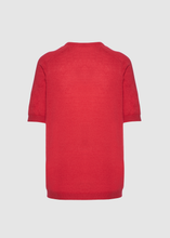 Load image into Gallery viewer, Short sleeves crewneck in linen - cotton