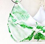 Double Tiered Rat Hammock in Green Leaf Print