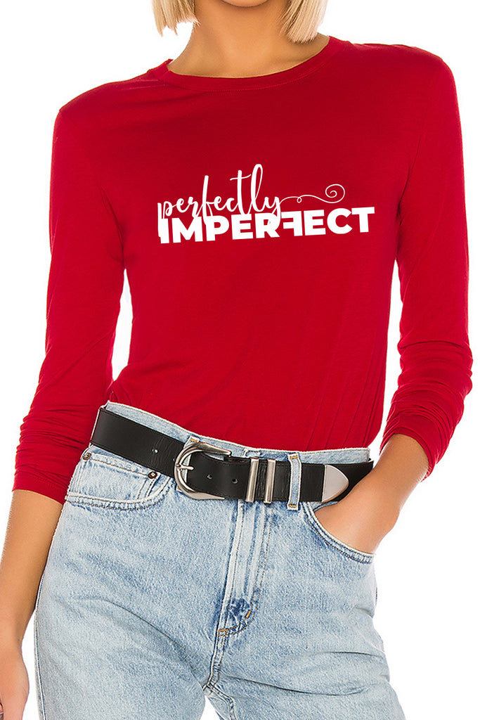 Perfectly Imperfect Buddie Red Top