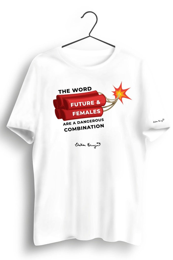 Future and Females Graphic Printed White Tshirt