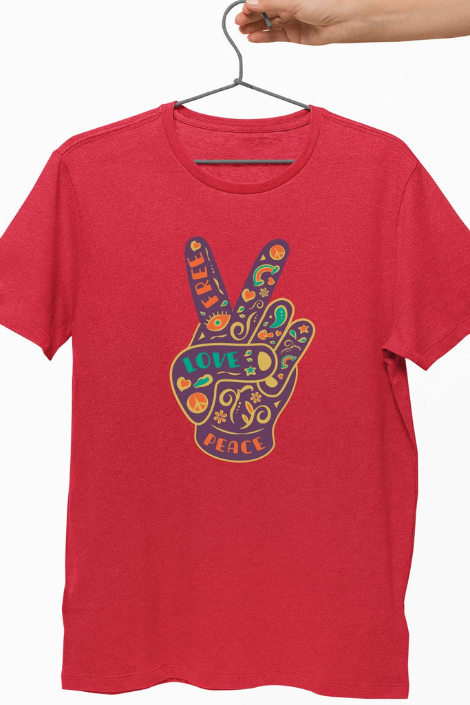 Hippie Victory Red Tshirt