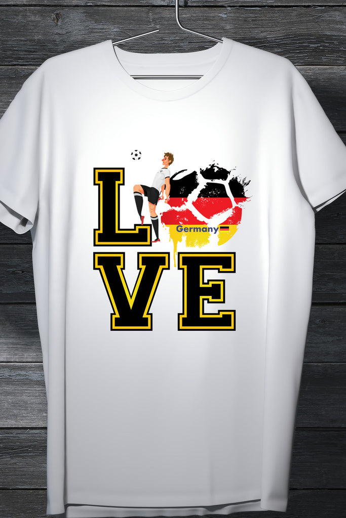 Germany Football Team Fan Tee- Casual Round neck printed