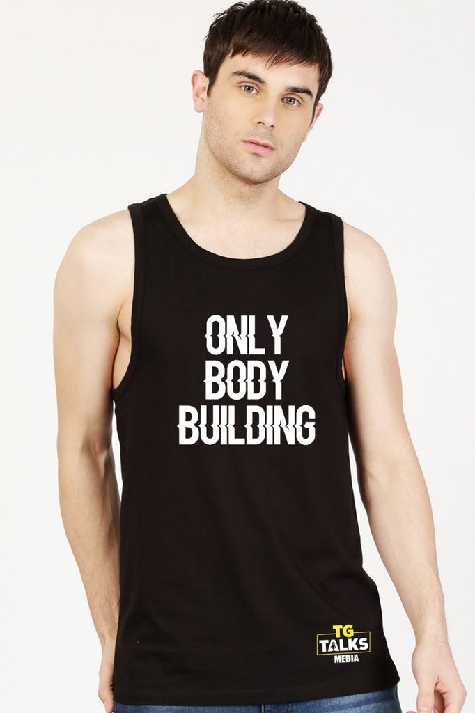 Only Body Building Black Vest