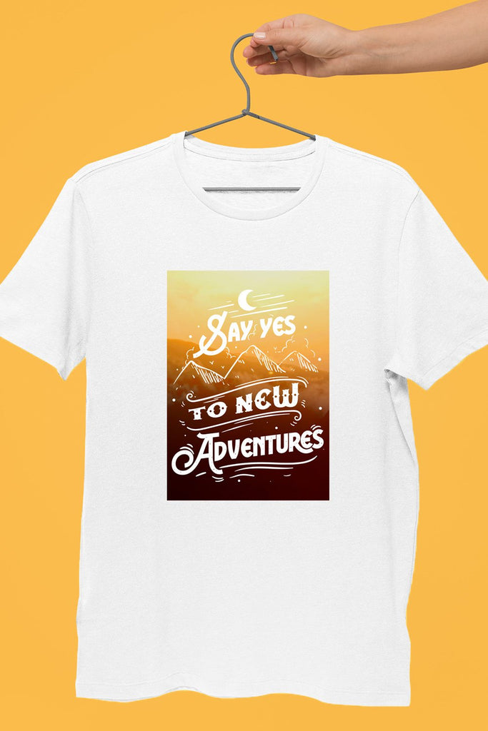 Say Yes To The Adventure White Tshirt