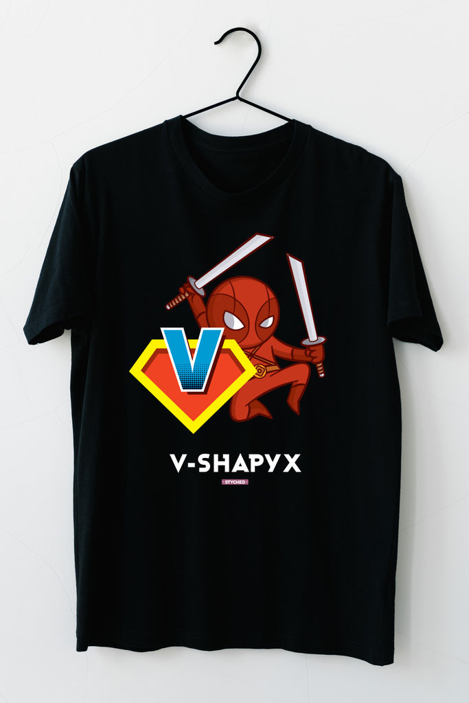 VShapyx by Styched Dry-Fit T-Shirt Black Color