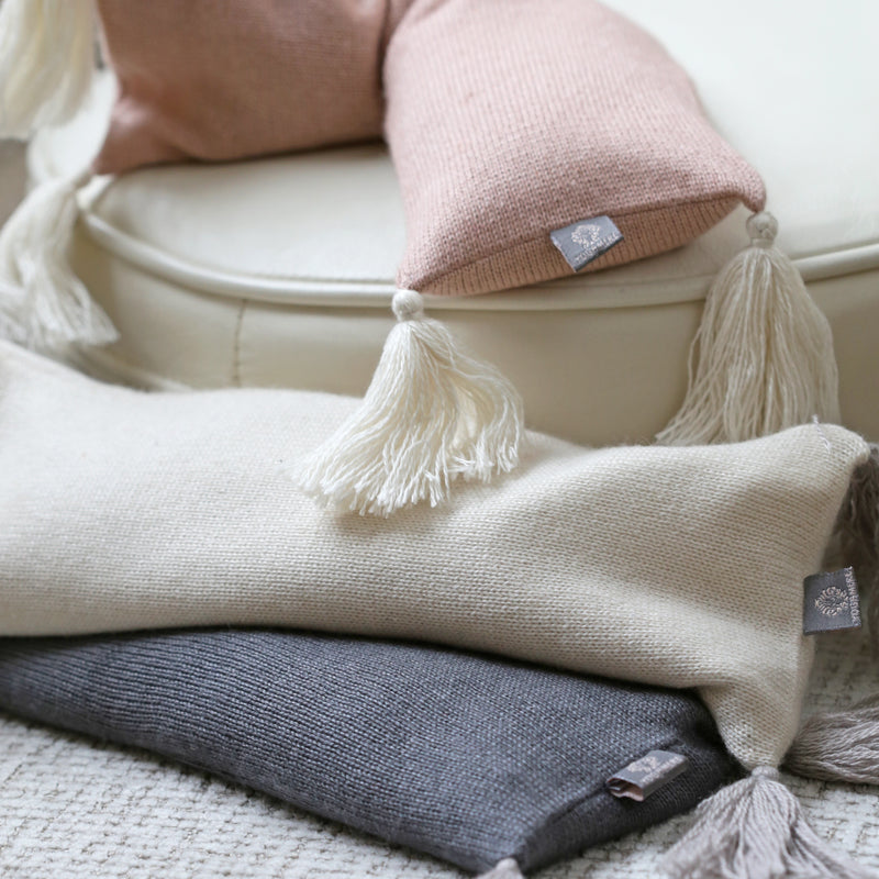 Cashmere & Silk Eye Pillows with Natural Flaxseed Fill