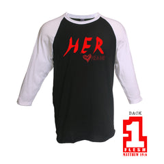 Valentine's Day Collection: One Flesh Men's Baseball Jersey T-Shirt