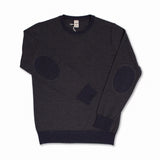 Crewneck in charcoal-blue merino wool